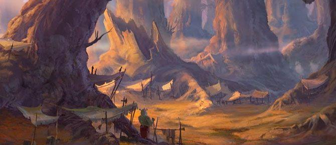 Artes de Paul Duncan para Shrek Forever After