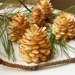 Chocolate Almond Pinecones #desserts