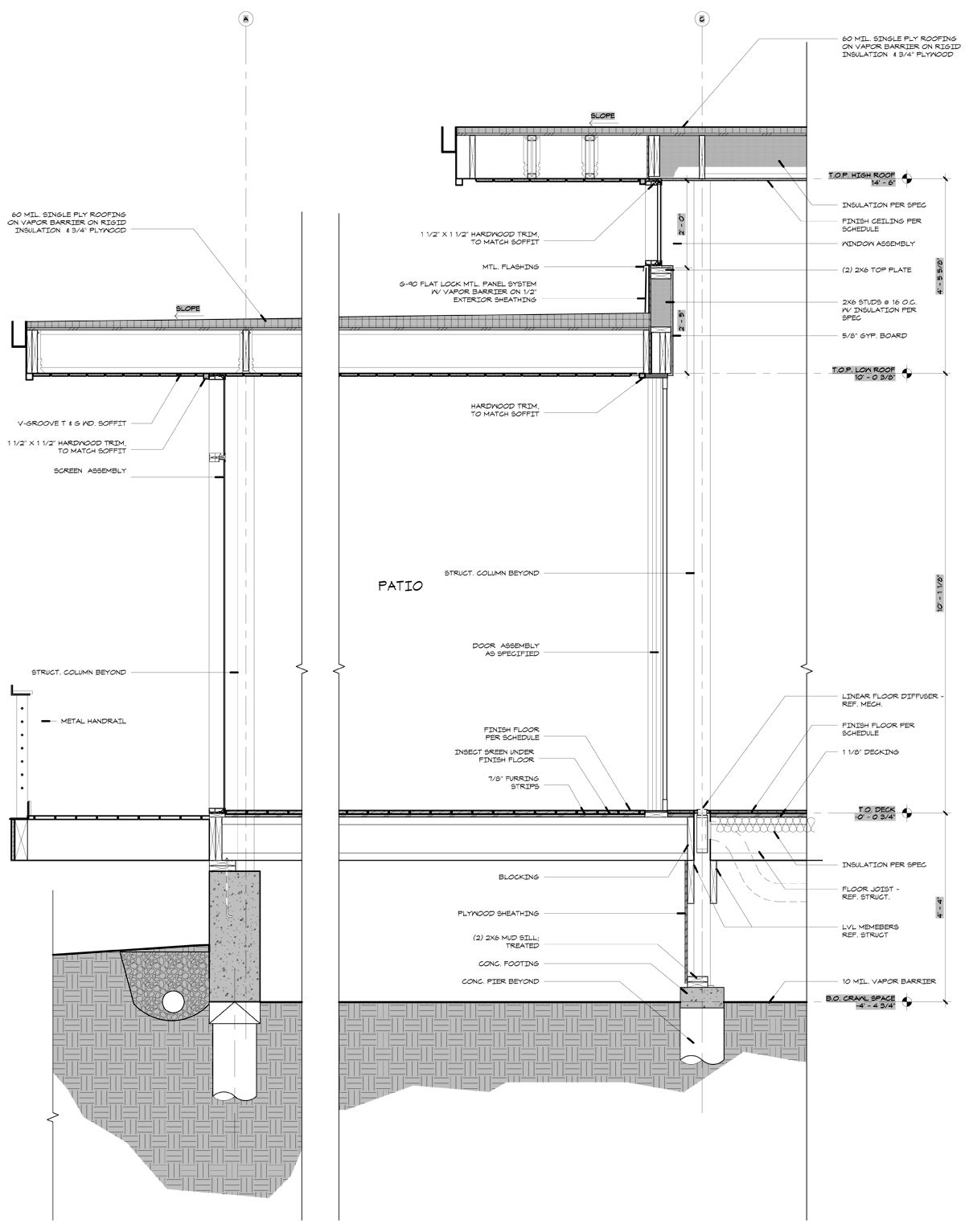 Modern Residential Framing Architectural Section Residential