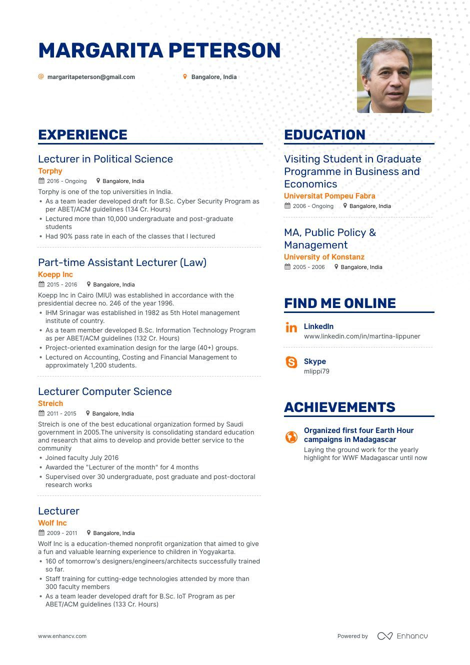 DOWNLOAD Lecturer Resume Example for 2020 Resume