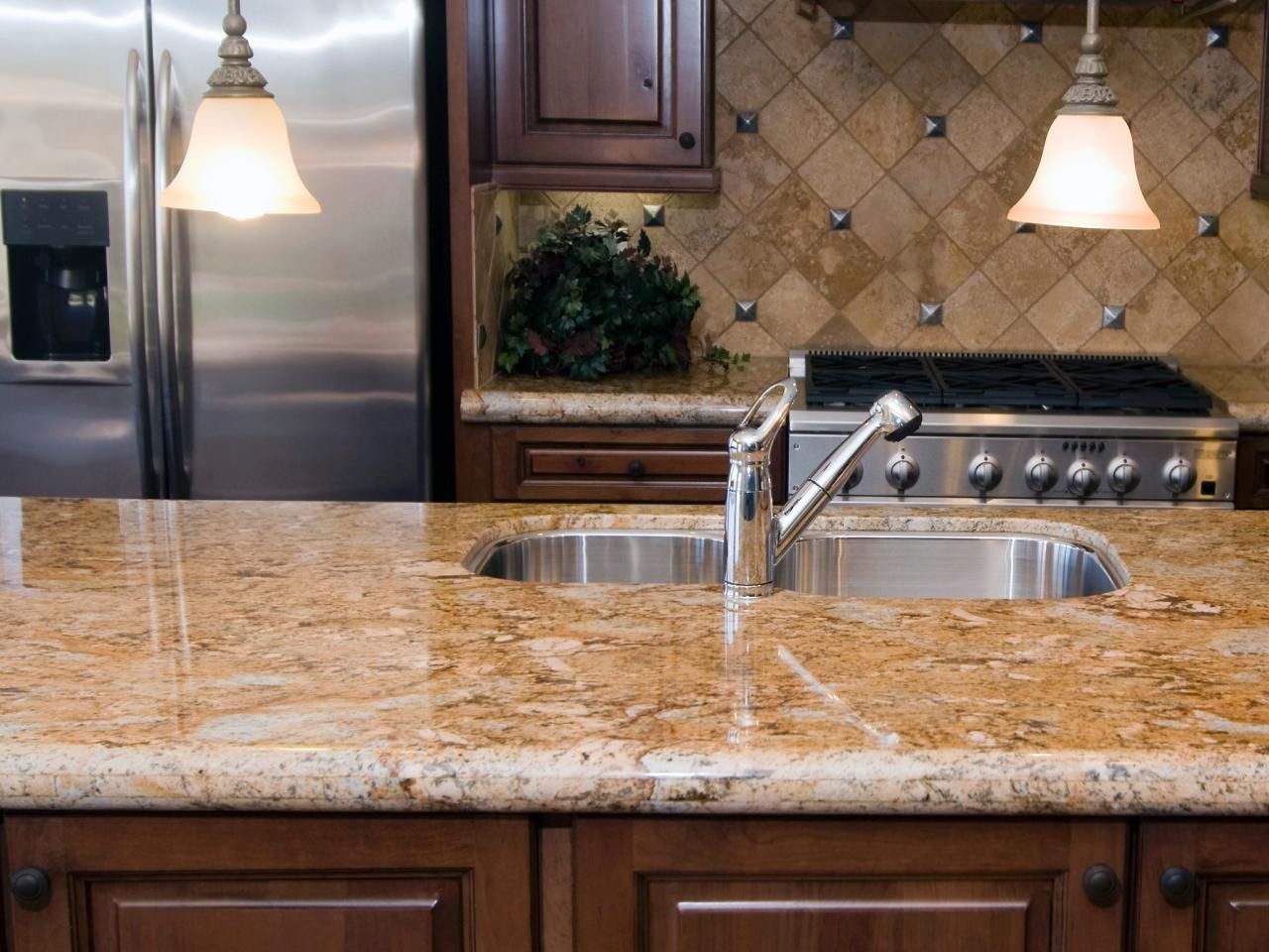Granite Countertop Colors Granite Kitchen Granite Countertops Kitchen Brown Kitchen Cabinets
