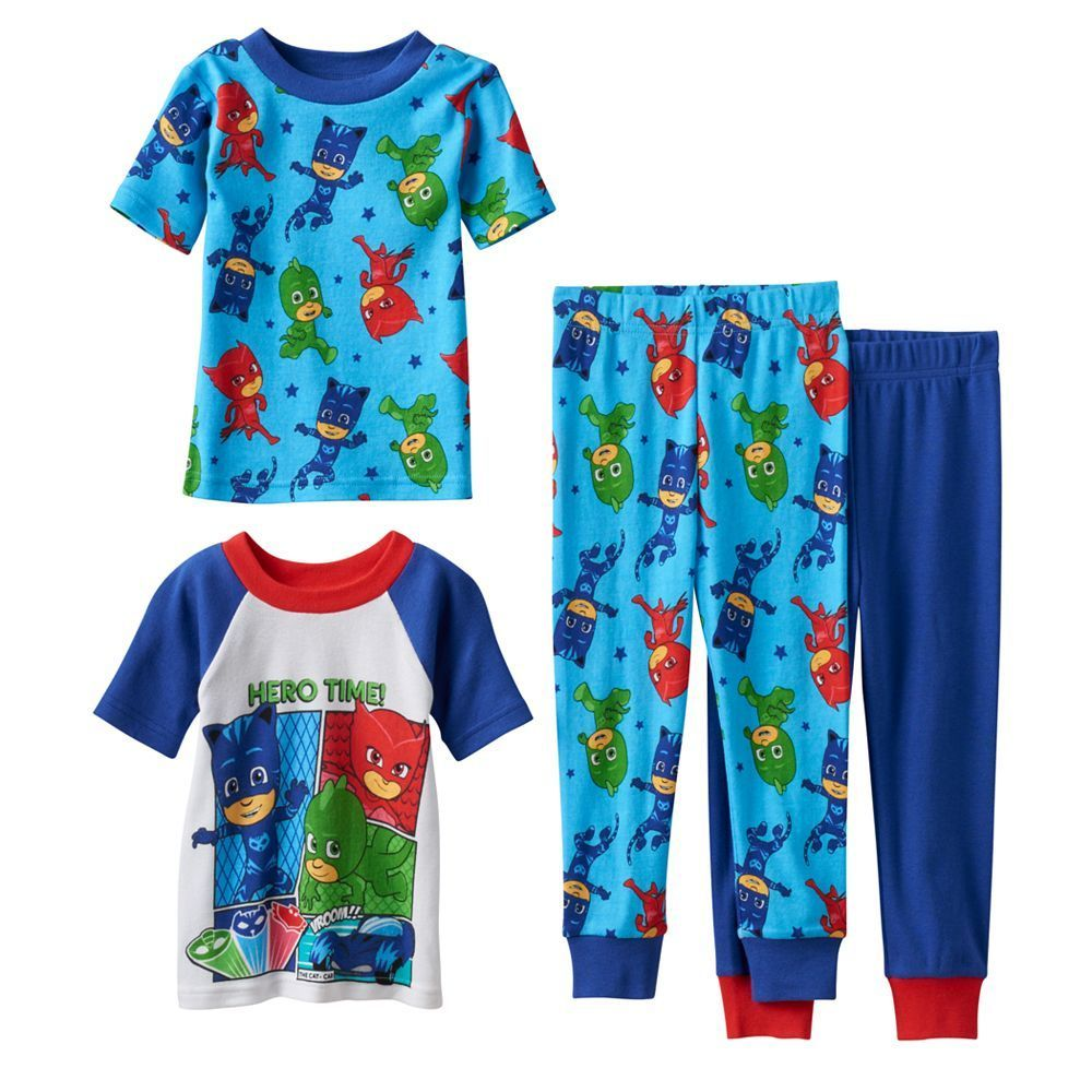 PJ Masks Little Boys Toddler Four-Piece Pajama Set 3T
