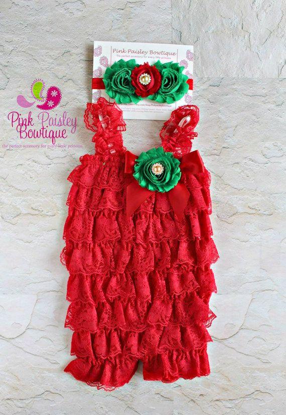 08ca10e1d882c Valentine's Dress - Petti Lace Romper- Ruffle Rompers - Valentine's ...