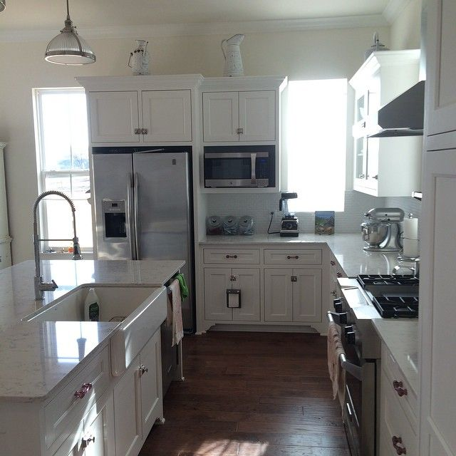 Hickschandlery On Instagram Good Morning Focusing On Cleaning Today After Major Candle Pours Last Two We Kitchen Dinning Room Kitchen Style Farmhouse Kitchen Four gables house plan interior