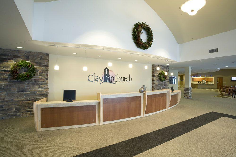 Modern church foyer google search church decor for Church interior designs ideas