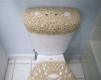 Crochet Toilet Seat Cover Or Tank Lid Taupe Heather Oatmeal Tsc10b Ttl10b