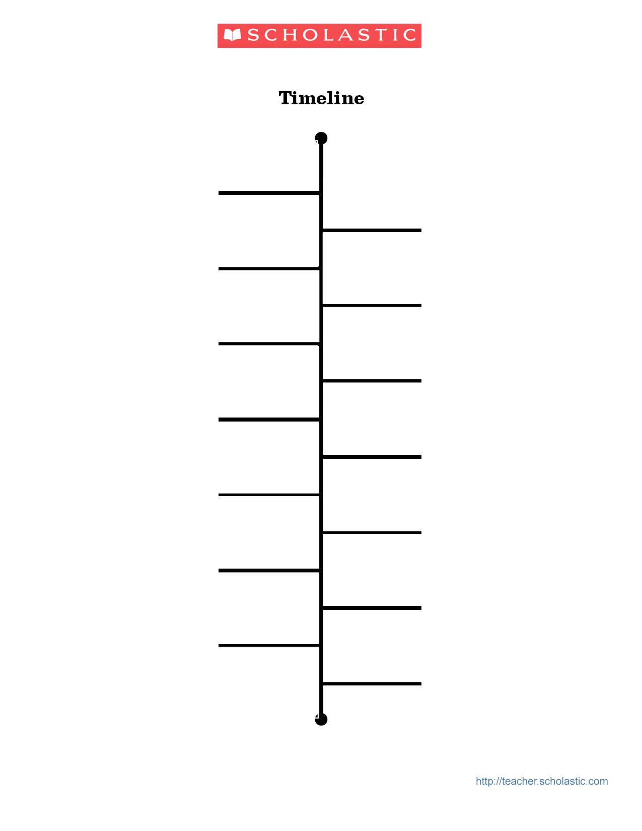 Chronological Timeline Template Word