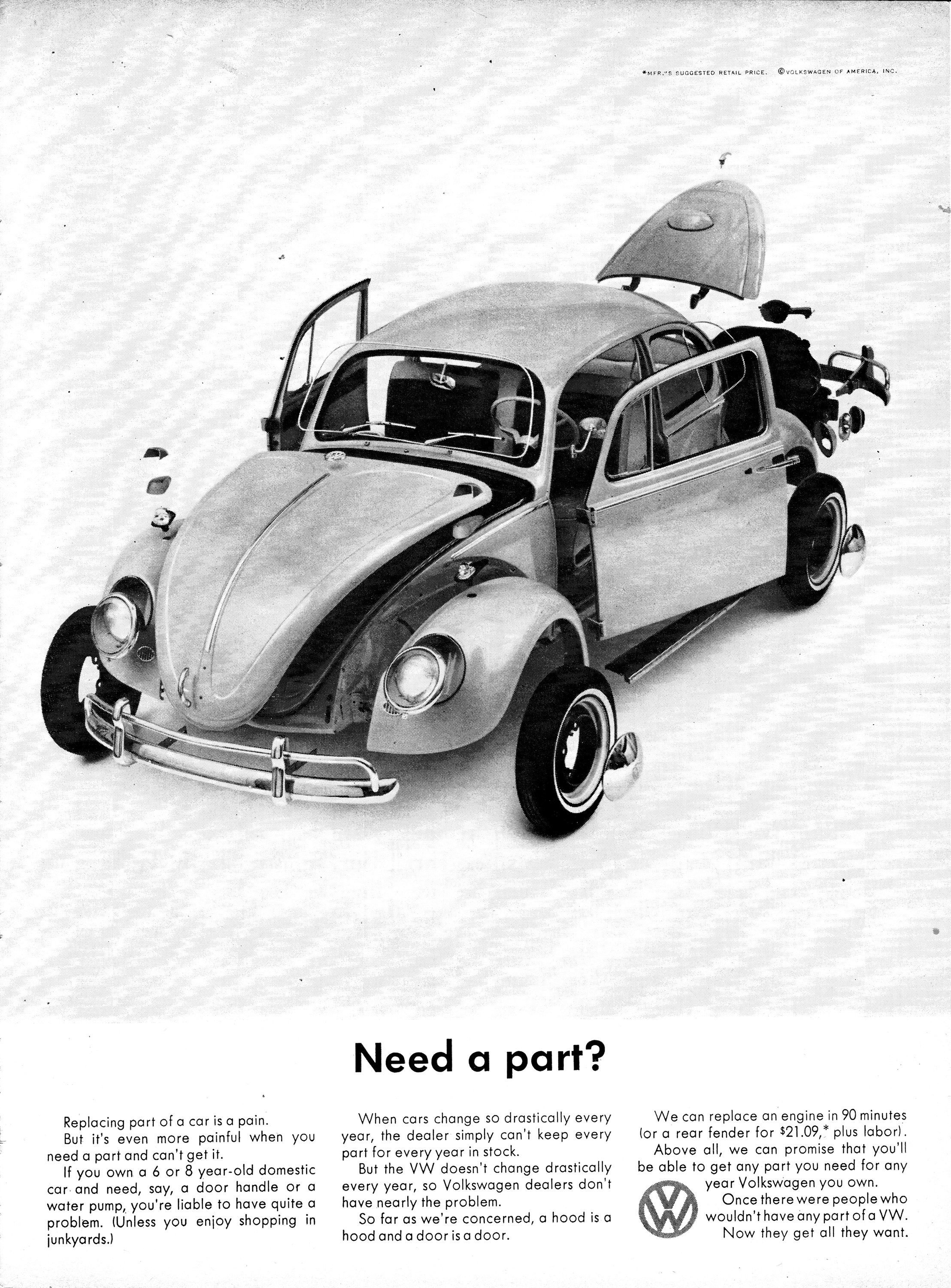 1964 VW Beetle-Need A Part-1 5 Hour Engine Replace-Bug