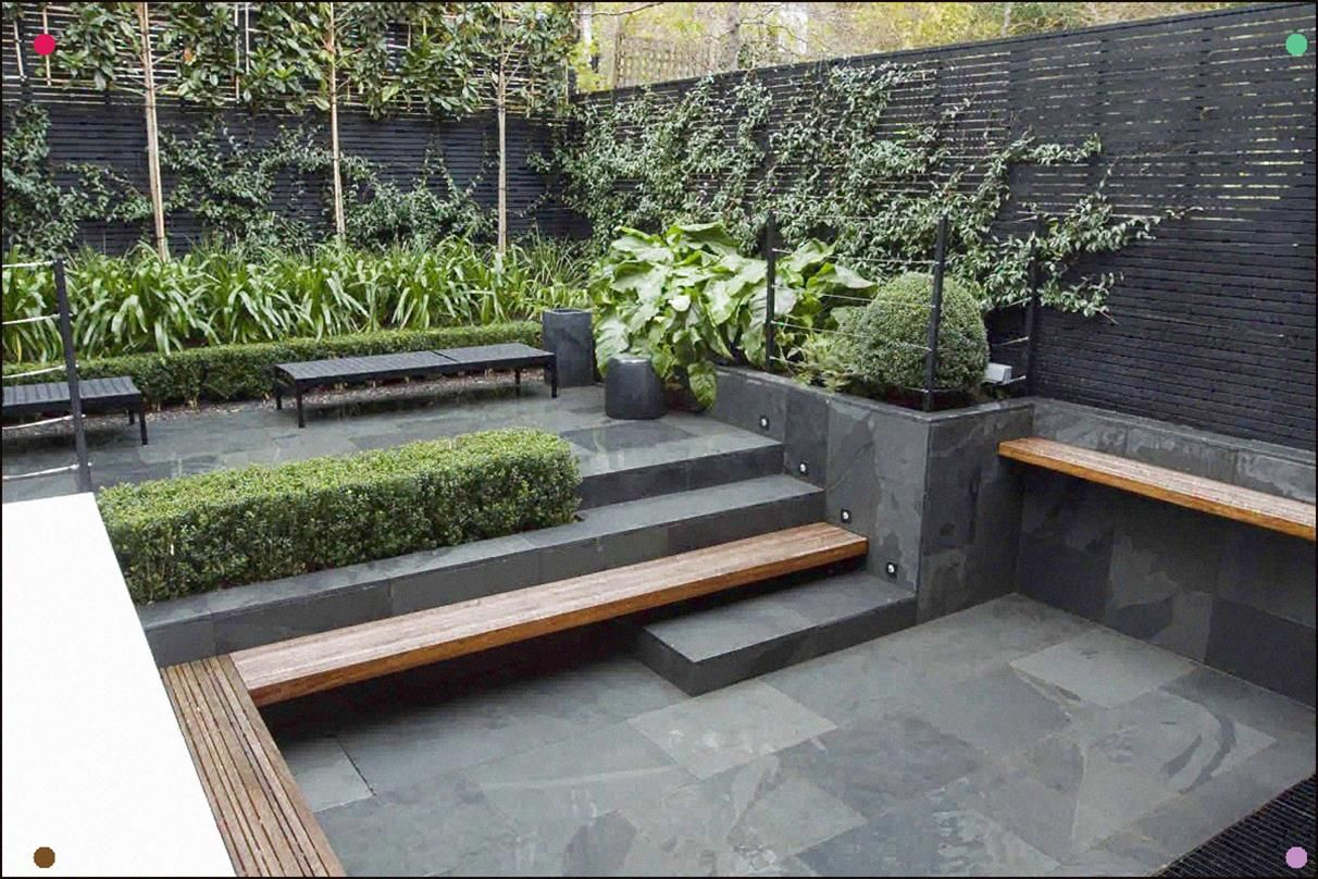 Sunken Courtyard Garden Timber Seat Becomes Step ... on Small City Patio Ideas id=73316
