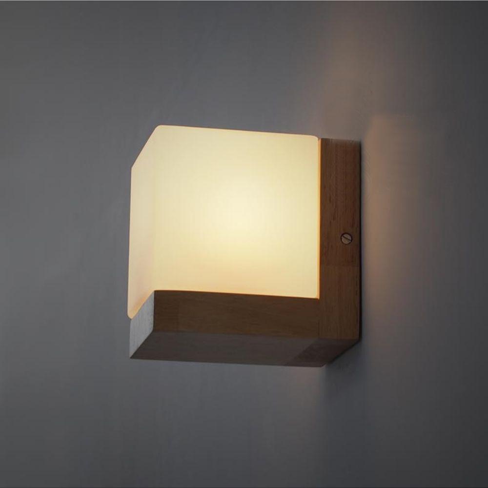 Resultado de imagen de lamparas madera aplique mesita noche vintage style woodglass one light diameter bedroom restaurant wall lamp amipublicfo Choice Image