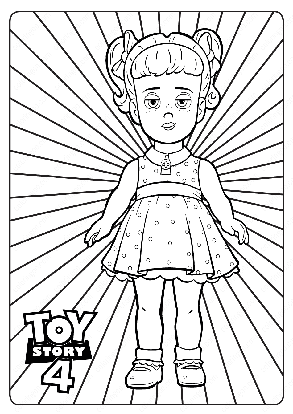 Printable Toy Story 4 Gabby Gabby PDF Coloring Pages in ...