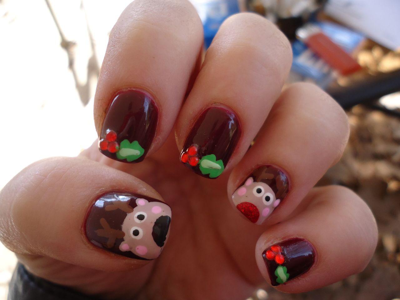 deer christmas #nail #nails #nailart | Nails | Pinterest | Nail nail ...