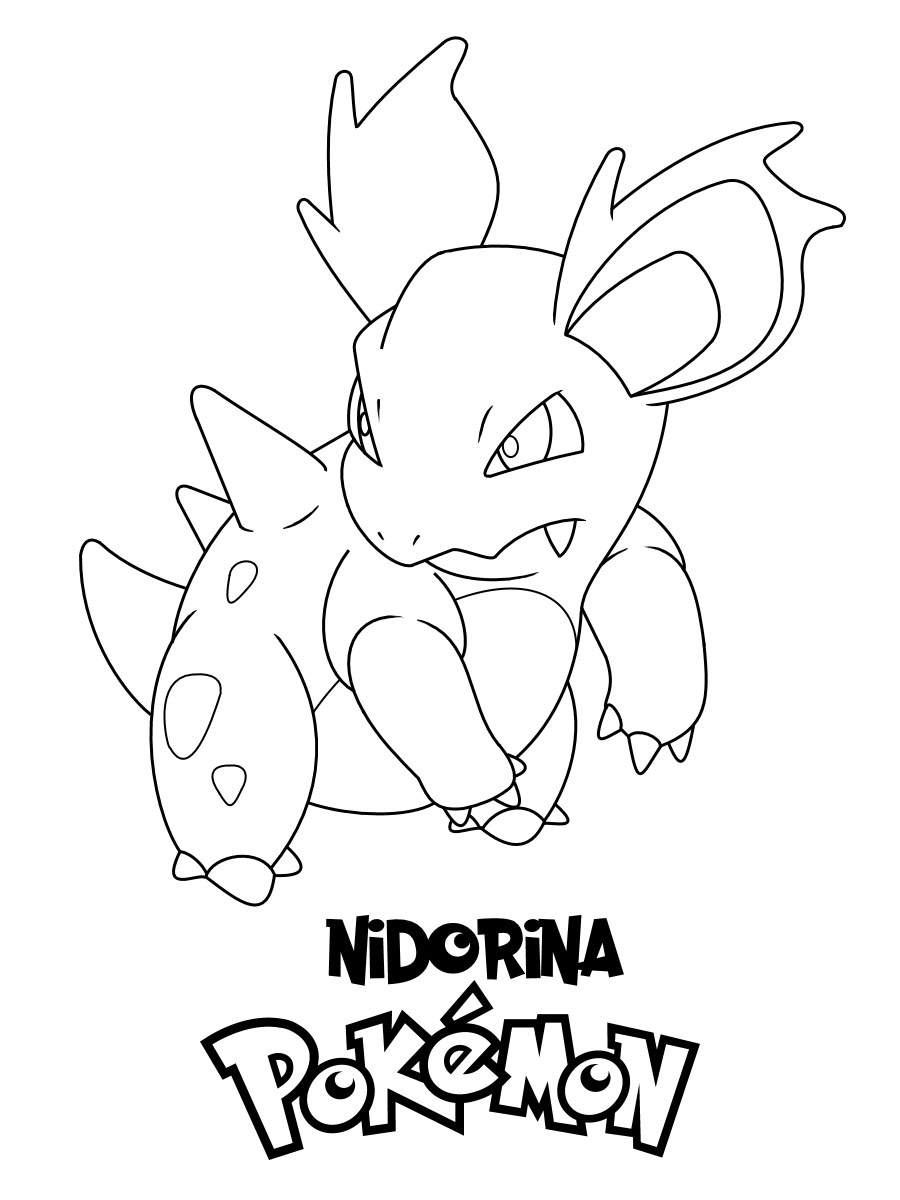 Nidorina Pokemon Coloring Fun Pages Pokemon Coloring Pokemon Coloring Pages Coloring Pages