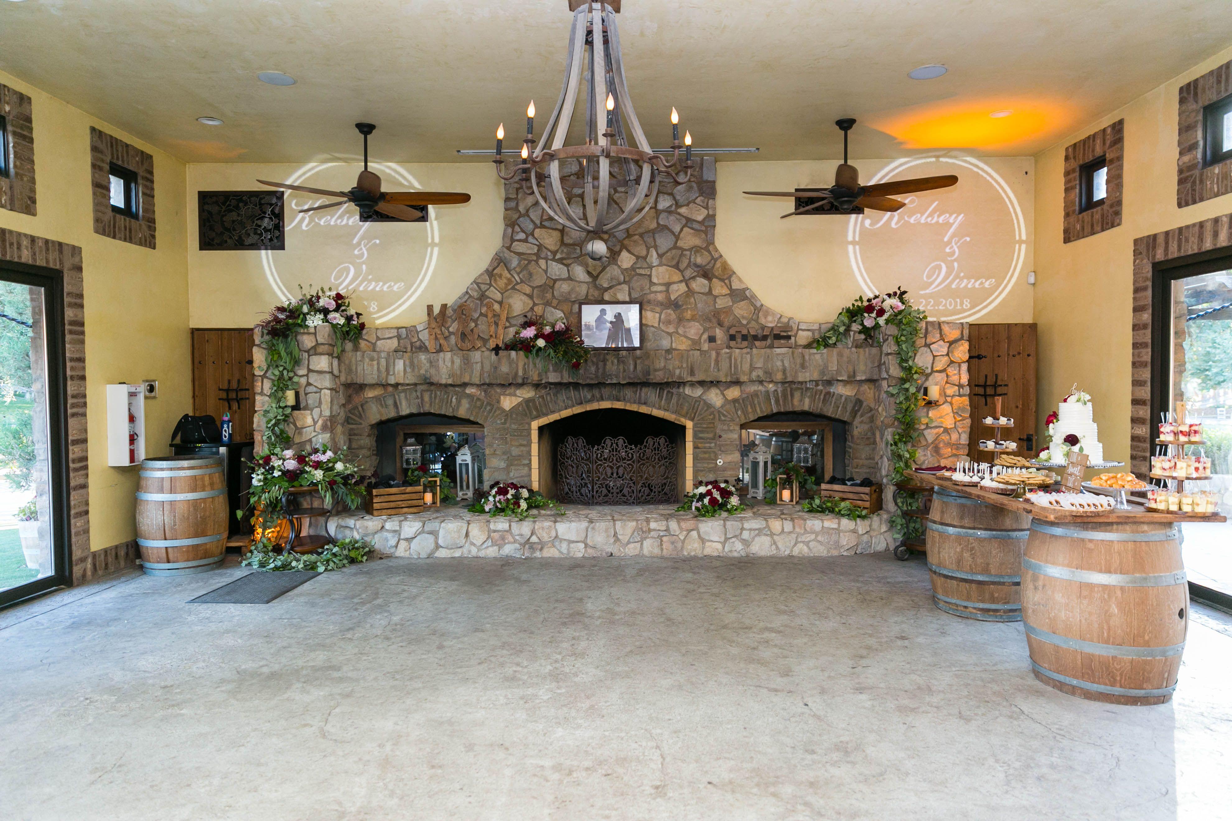 Lake Oak Meadows Dance Room Wine country wedding venues