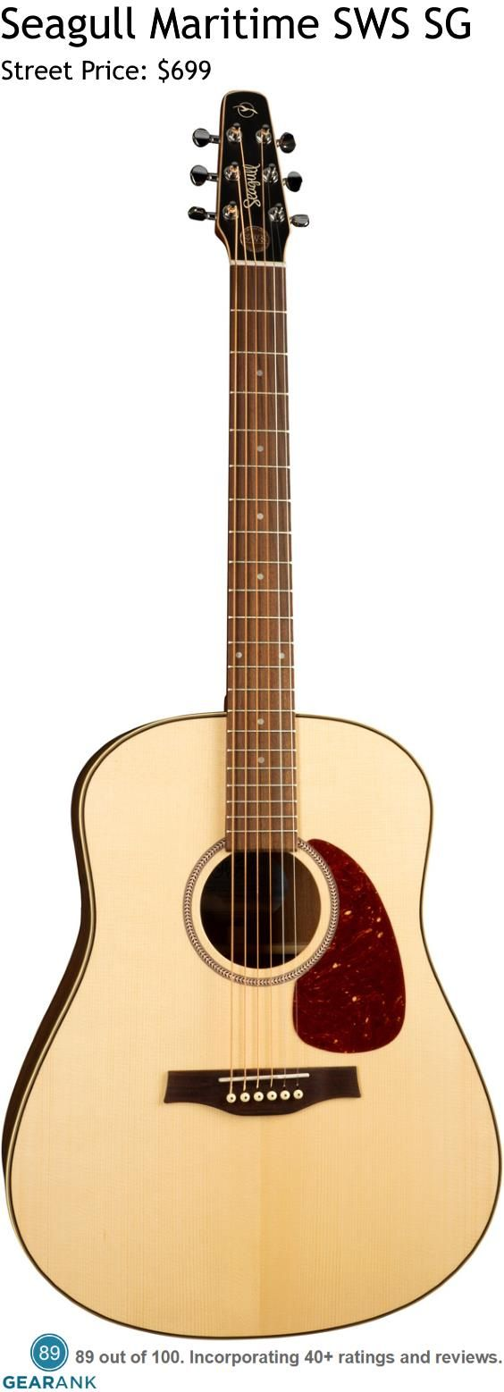 Seagull Maritime Sws Sg It Features A Full Depth Dreadnought Body With All Solid Wood Construction And A Light Glo Best Acoustic Guitar Guitar Acoustic Guitar
