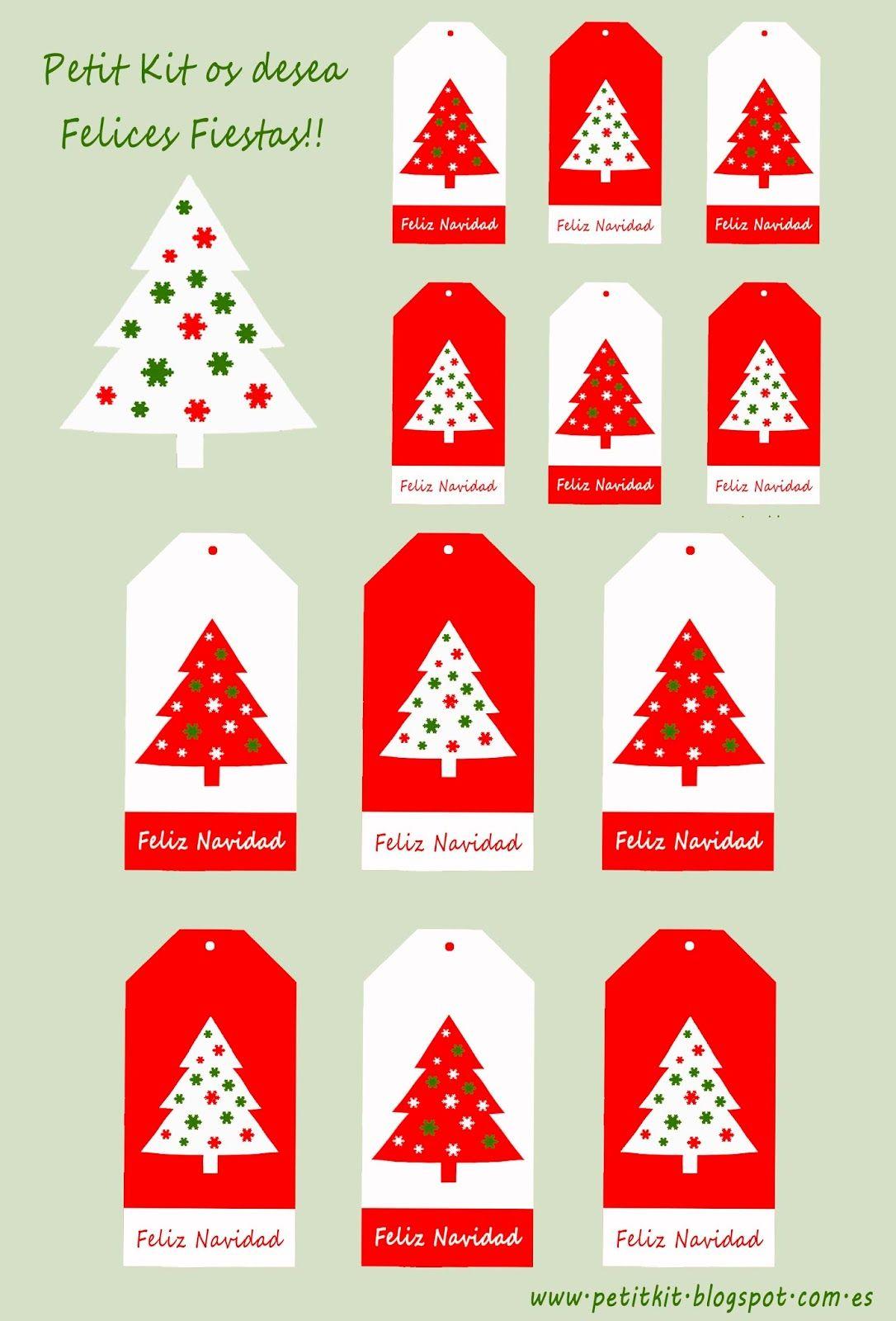 Etiquetas de navidad para descargar gratis!!! | Etiquetas de navidad ...
