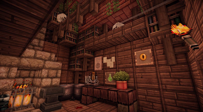 Minecraft 森の魔女の家 内装 ゆゆこ さんのイラスト 魔女の家