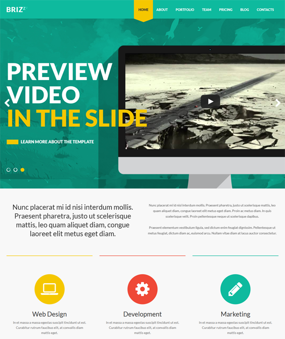 This Flat Wordpress Theme Has A Responsive Layout A One Page Design Parallax Backgrounds Css3 And Html5 Code J Wordpress Theme Web Development Design Theme