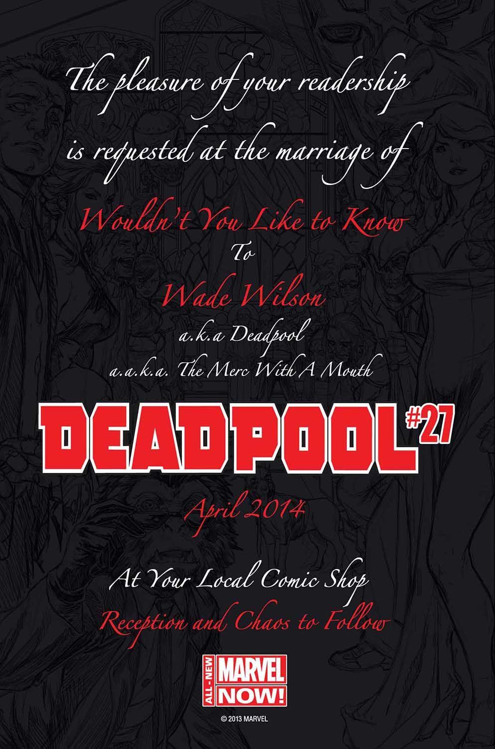 Deadpool Wedding Invitation Marvel Wedding Deadpool Nerd Wedding