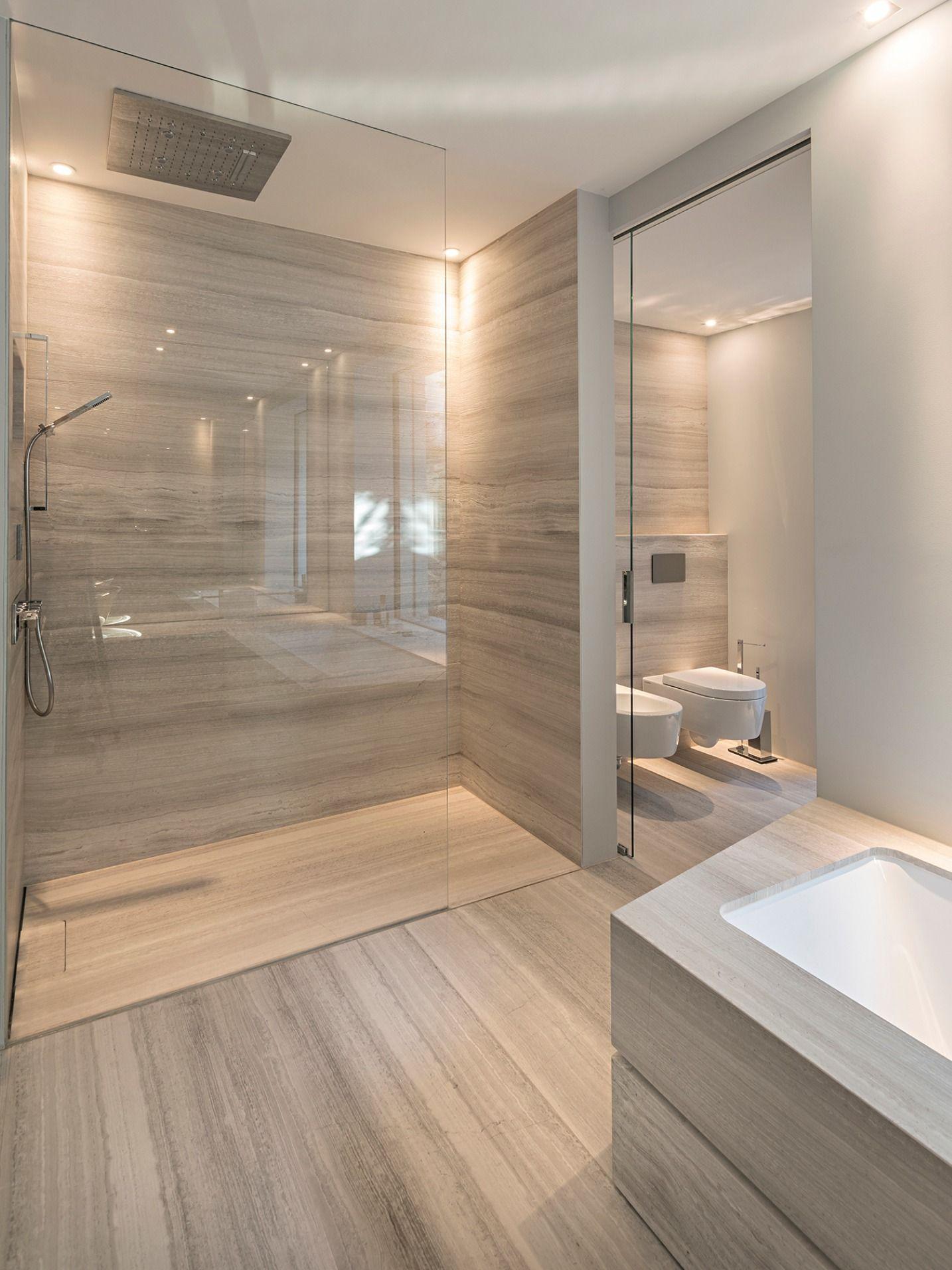 Bagni Moderni In Marmo.Bagno Moderno Bagno In Marmo Vasca Da Bagno Sottopiano Rivestita