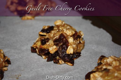 Guilt Free Cherry Cookies by Dish Ditty
