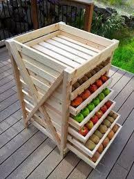 Resultado de imagen para mesa de centro con cajones de fruta