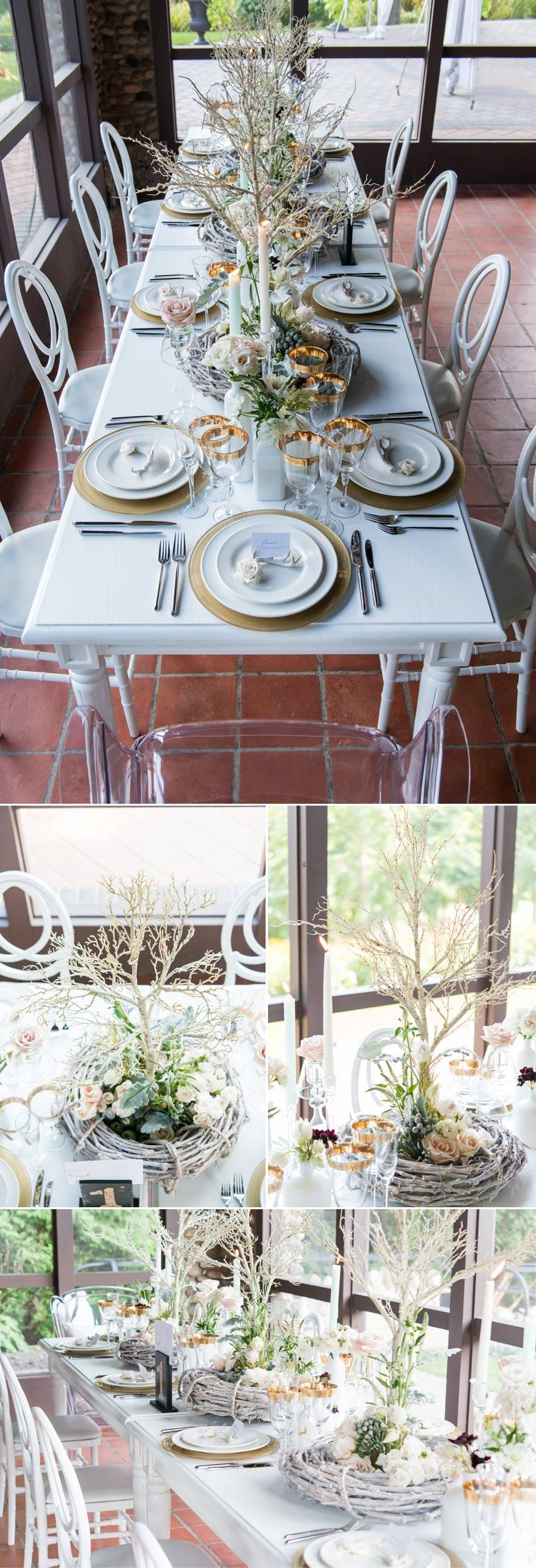 You Ll Be Spoilt For Choice With These 50 Stunning Diy Centrepieces Wedding Centerpieces Diy Diy Wedding Table Woodland Theme Wedding