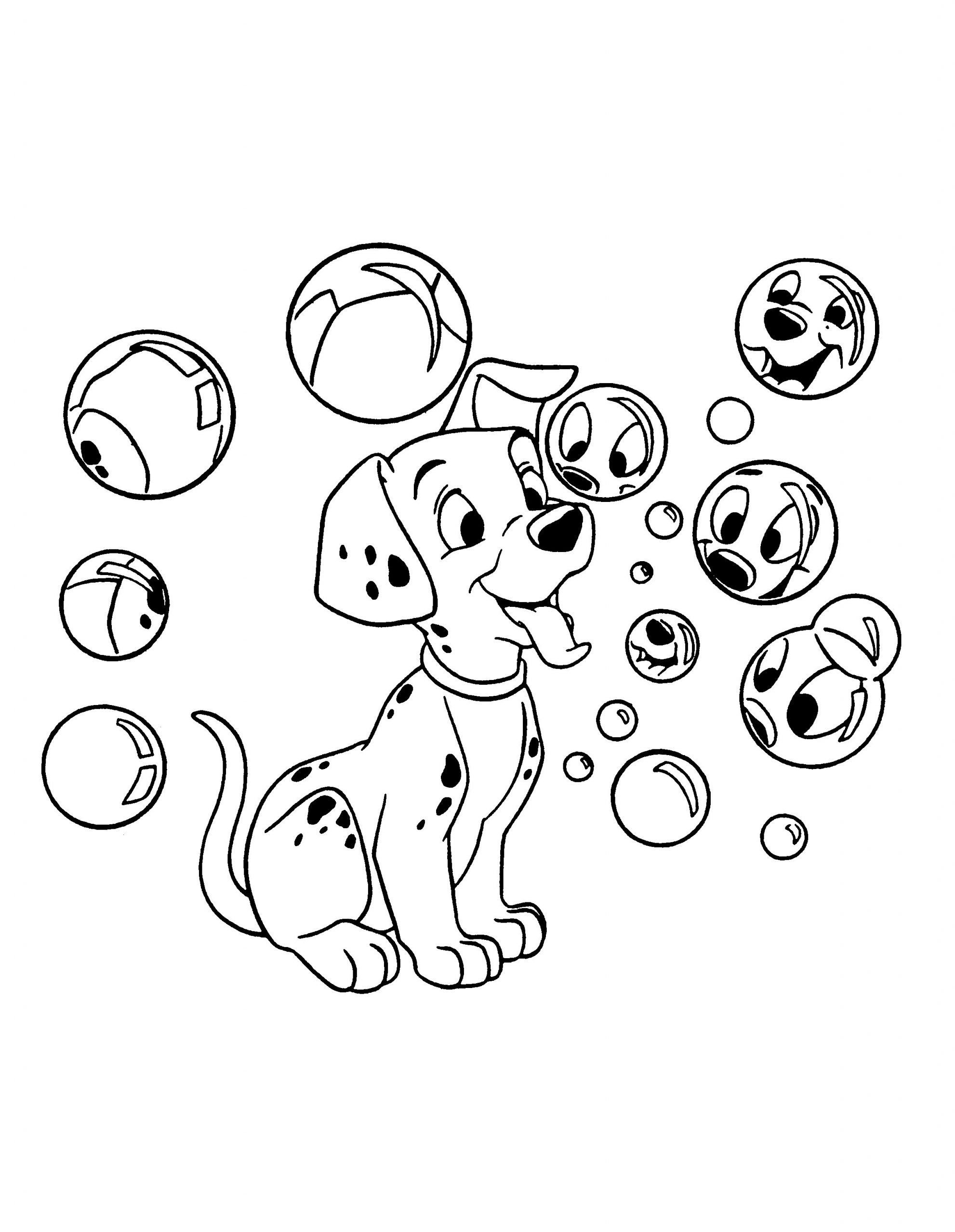 101 Dalmations Coloring Pages 101 Dalmations Coloring