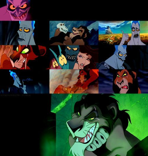 Hades (James Woods) & Scar (Jeremy Irons)  . I LOVE LOVE LOVE both of them!!