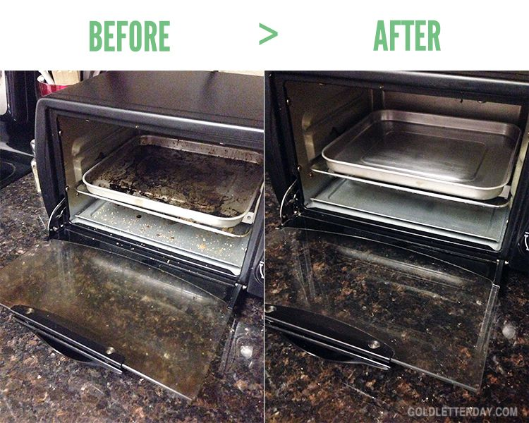 Clean Toaster oven with peroxide and baking soda.