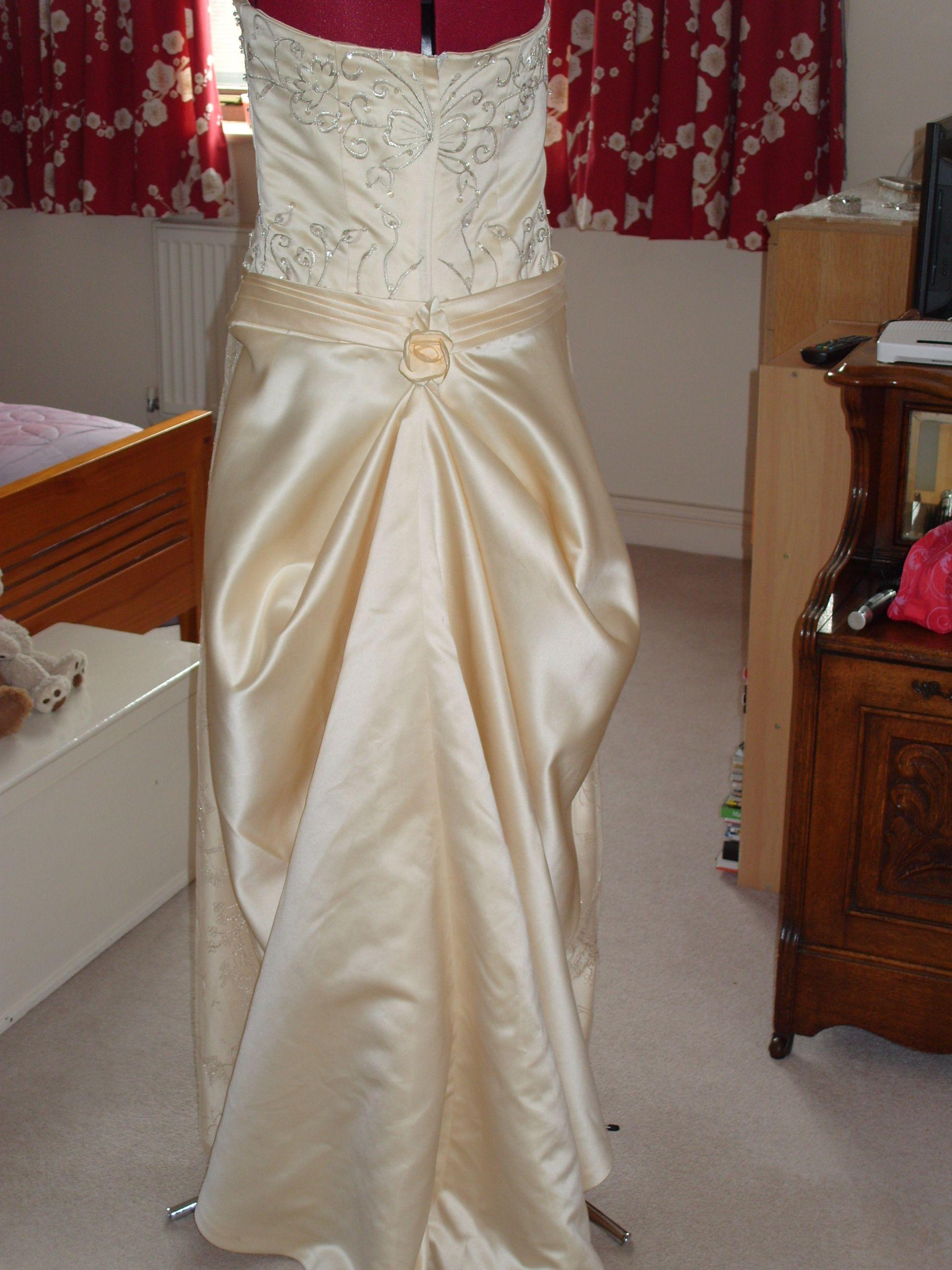 redesigned wedding dress.