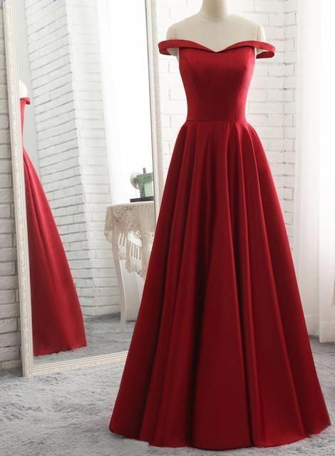 Weg von der Schulter a-line langes Abendkleid Schule Tanzkleid Mode Winter formale …   – Prom Dress