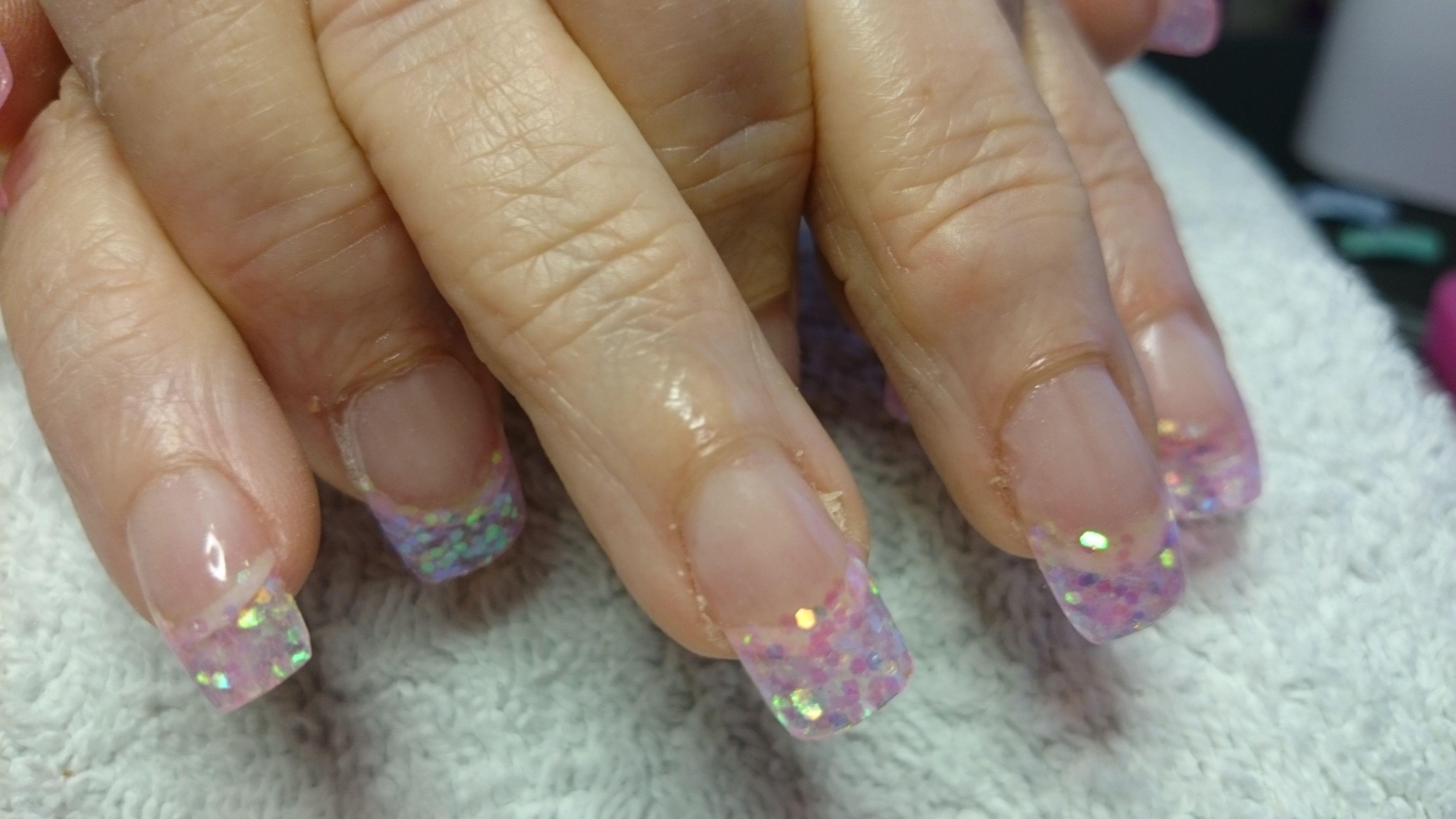 acryl met glitter tips