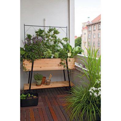 Balkonhochbeet Larchenholz Veranda Pflanzen Hofgarten Zimmerpflanzen Ideen