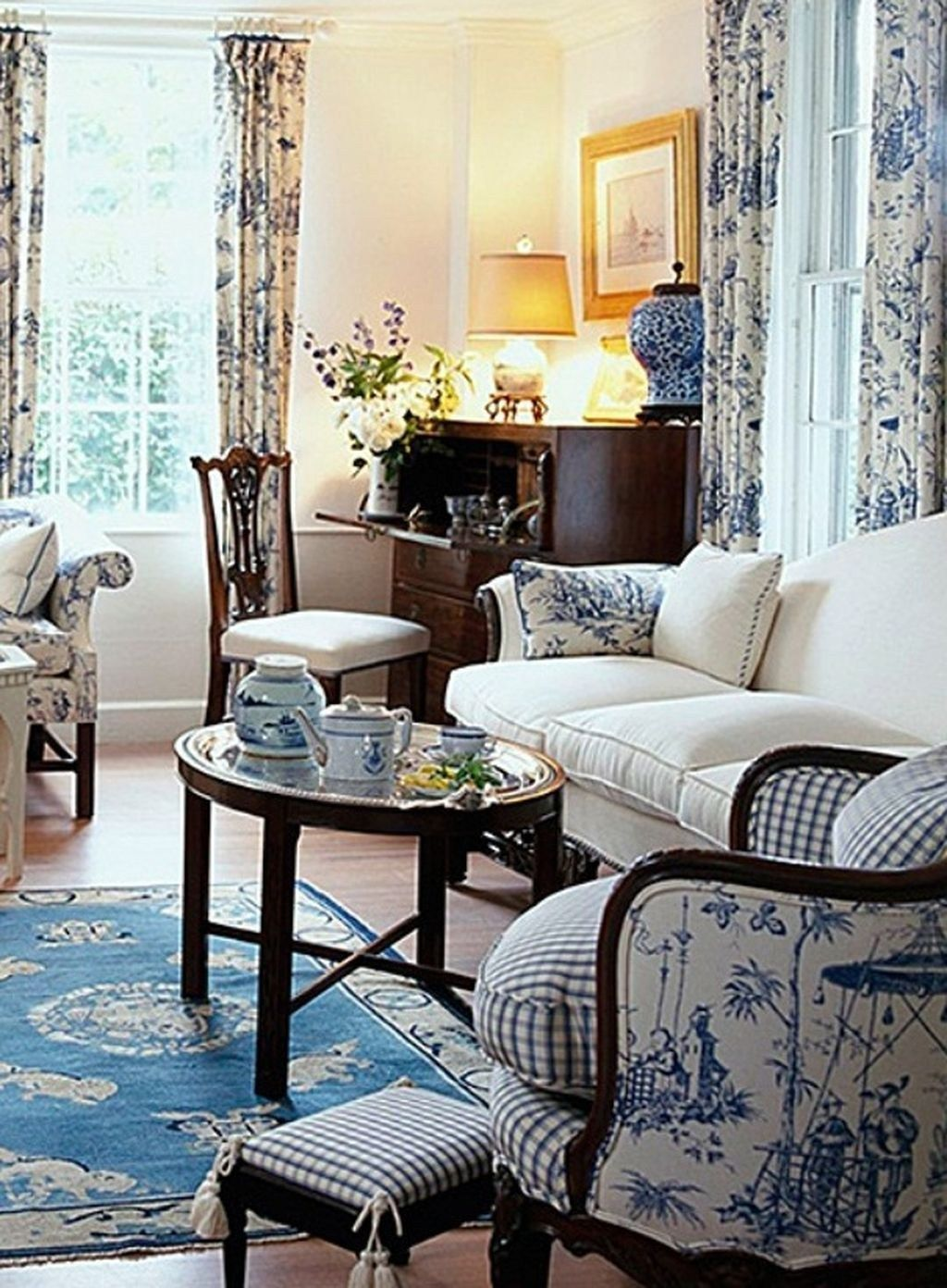 51 Cute French Style Living Room For New Home Style Roundecor French Country Living Room French Country Decorating Living Room Country Cottage Living Room