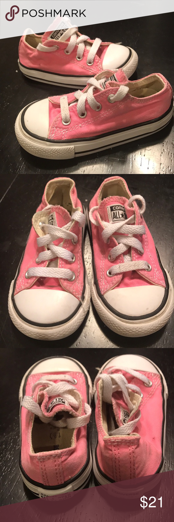 6fcfb908e334 Pink converse size 6 💕. Pink ConverseConverse ShoesShoes SneakersToddler  ...