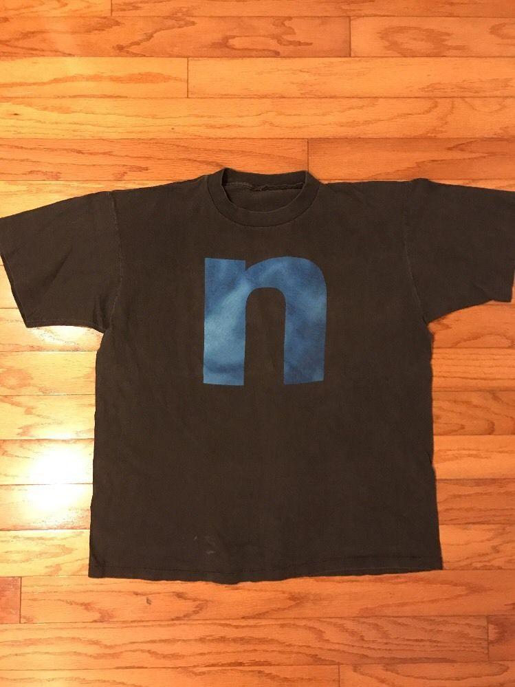 Vintage 90s Nine Inch Nails Fixed Black Music Tee T-Shirt | eBay ...