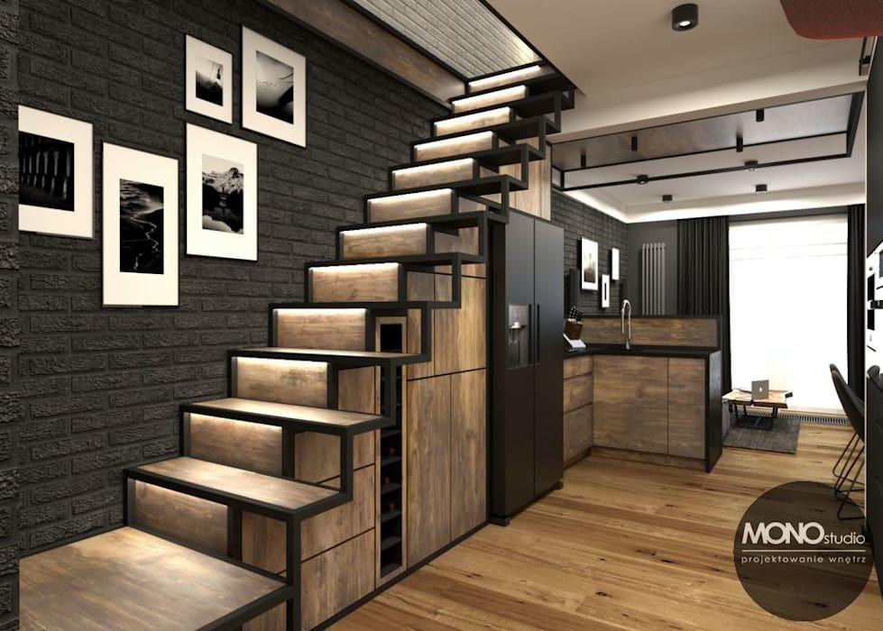 Kuchnia Z Salonem W Klimacie Industrialnym Monostudio Industrialna Kuchnia Homify Industrial Loft Design Industrial House Loft Design