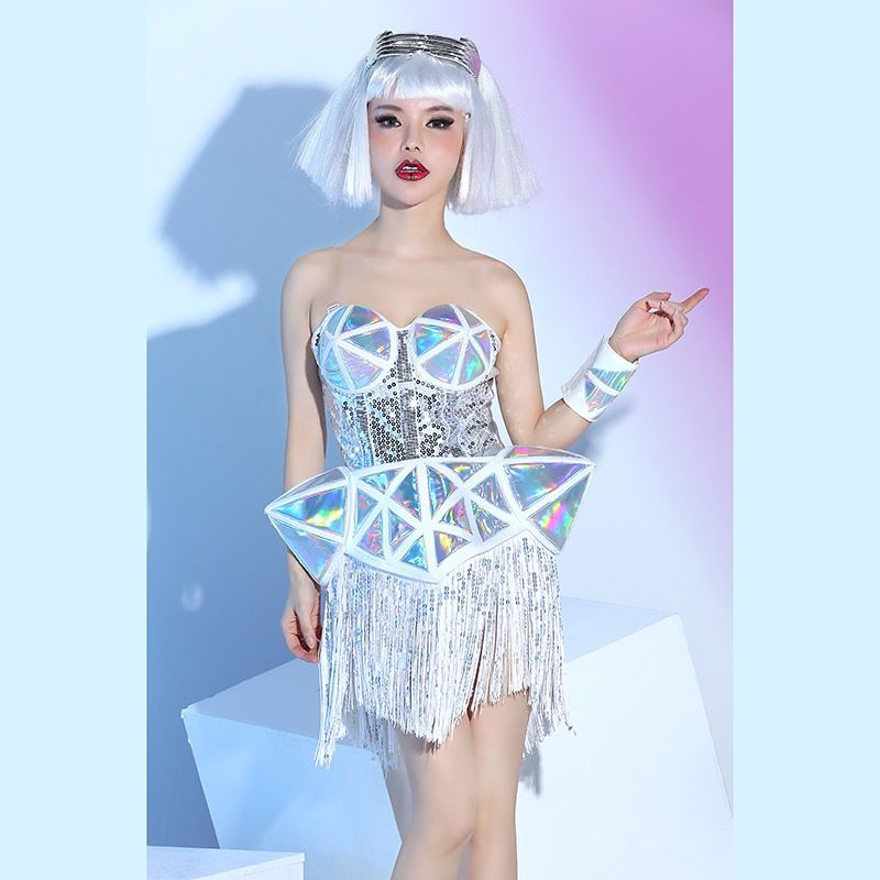 d73e943229 Futuristic Holographic Drag Queen Costume
