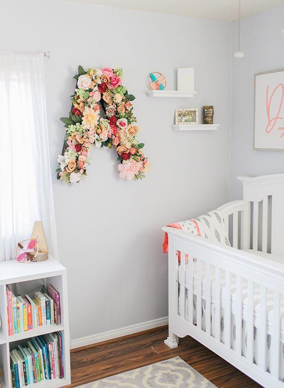 Letras decorativas para beb s habitaciones bebe ni a for Decoracion para bebe nina