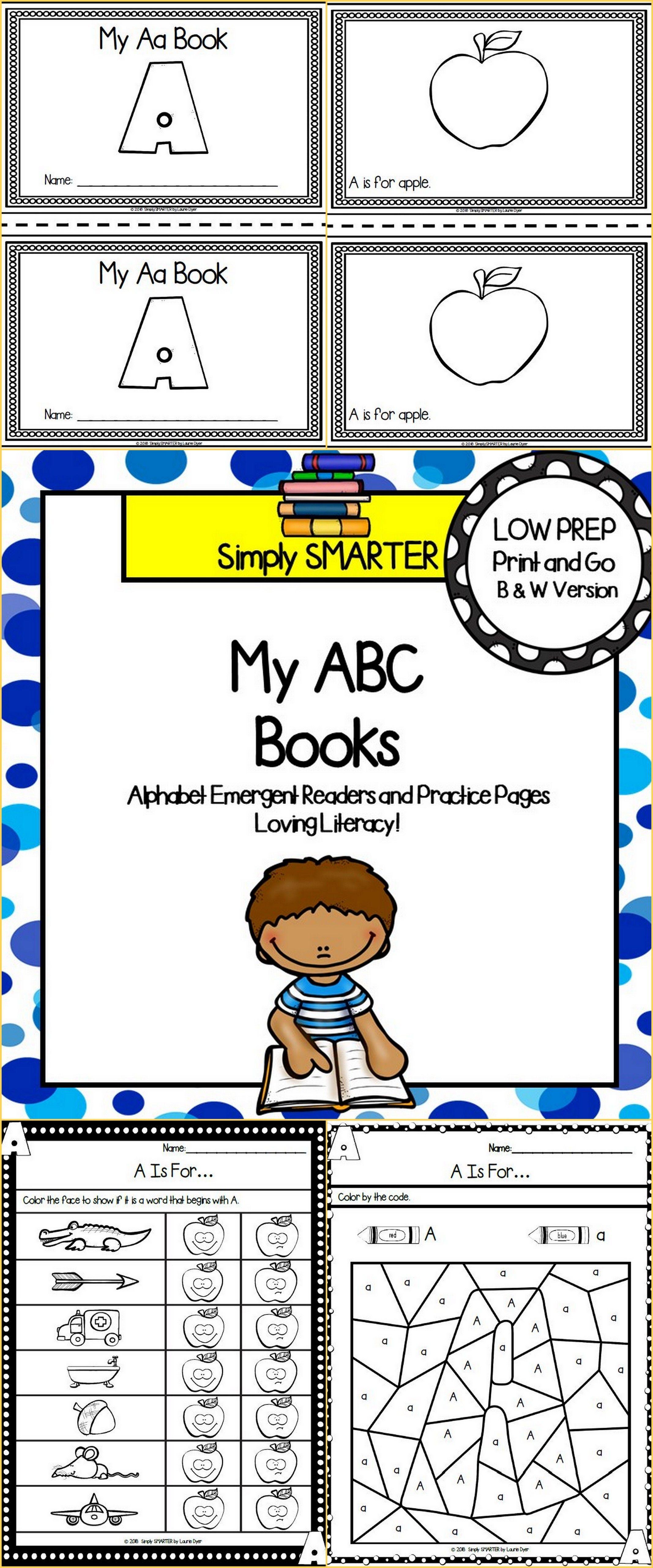 Alphabet Letter Emergent Reader Books And Alphabet Letter
