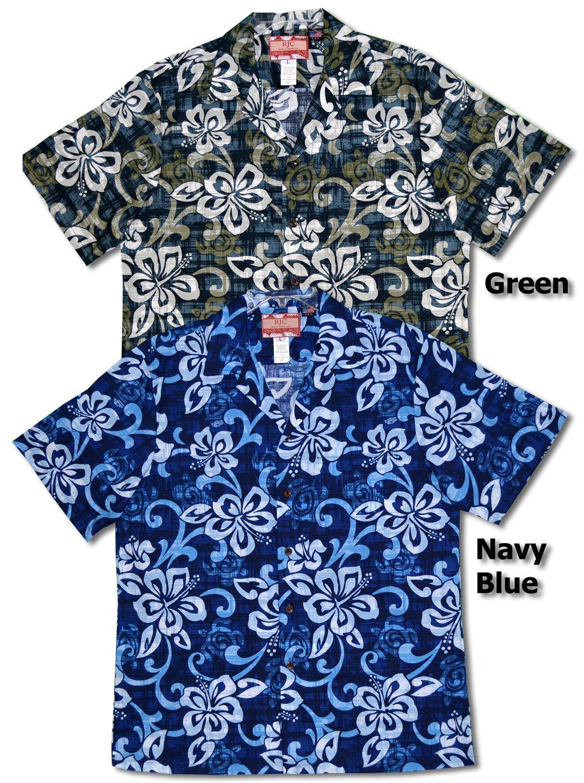 34fc88bef14cc Beautiful Hibiscus Men s Hawaiian Shirt created in Grey