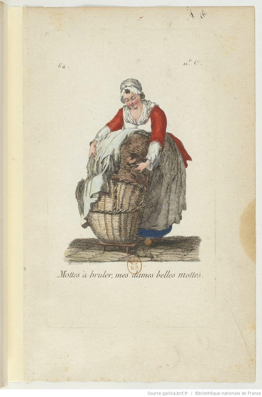 Mottes A Bruler Mes Dames Belles Mottes 18th Century Seller Of Fire Starters Gallica Dessin Illustration Vieux Metiers