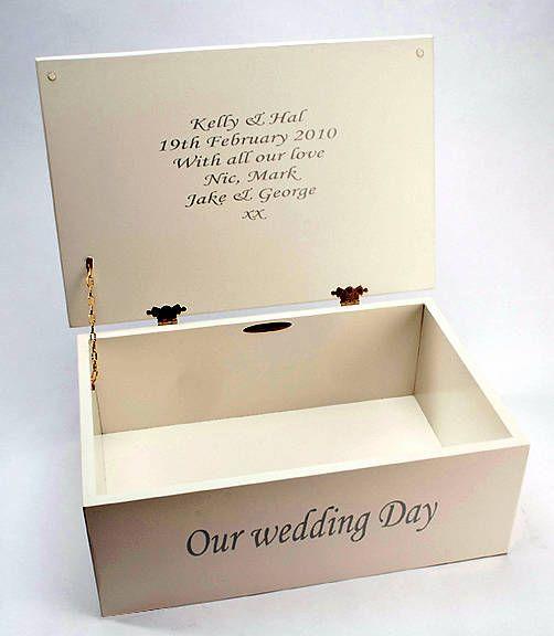 Personalised photo wedding keepsake box by picture proud ...