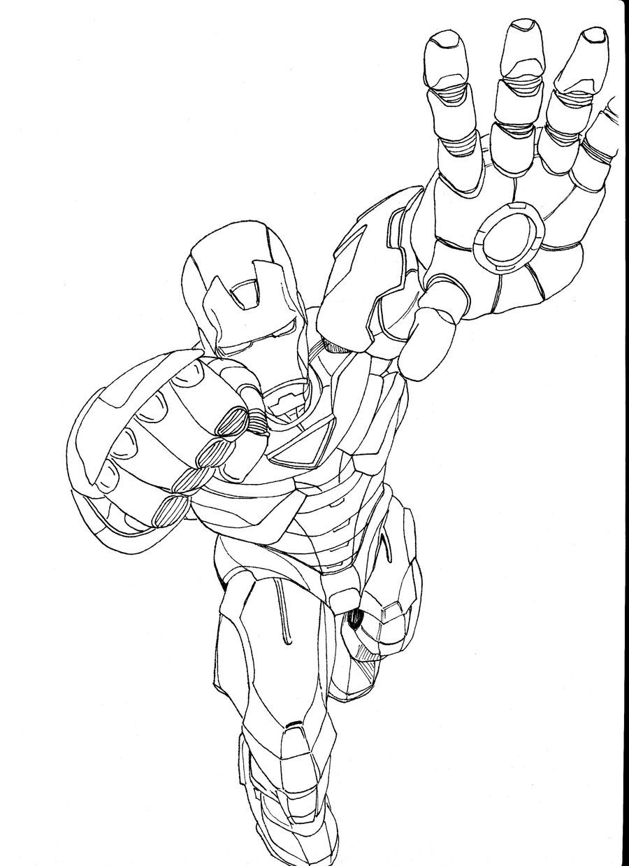 Iron Man 2 Coloring Pages To Print 900x1238