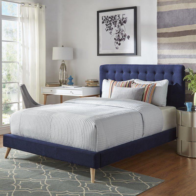 Starks Upholstered Platform Bed Upholstered Platform Bed Upholstered Panel Bed Bedroom Makeover