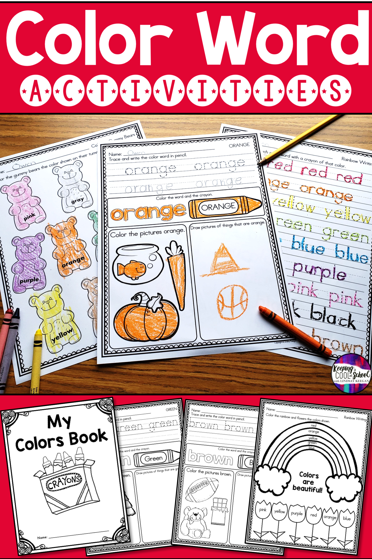 Students Will Love Using These Fun Color Words Worksheets