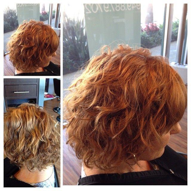 loose perm in medium length hair   Permed hairstyles