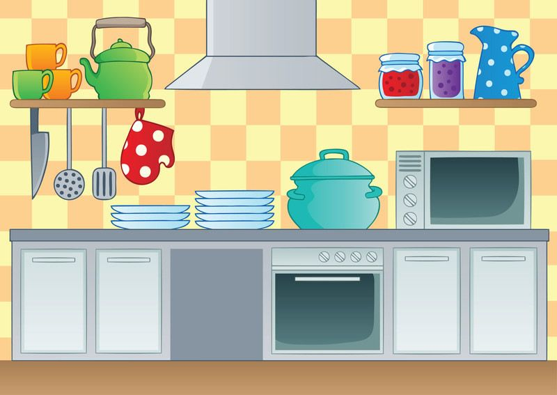 Everyday Cleaning Tasks And Tips In The Kitchen Kitchen Themes Kitchen Cartoon Kitchen Clipart