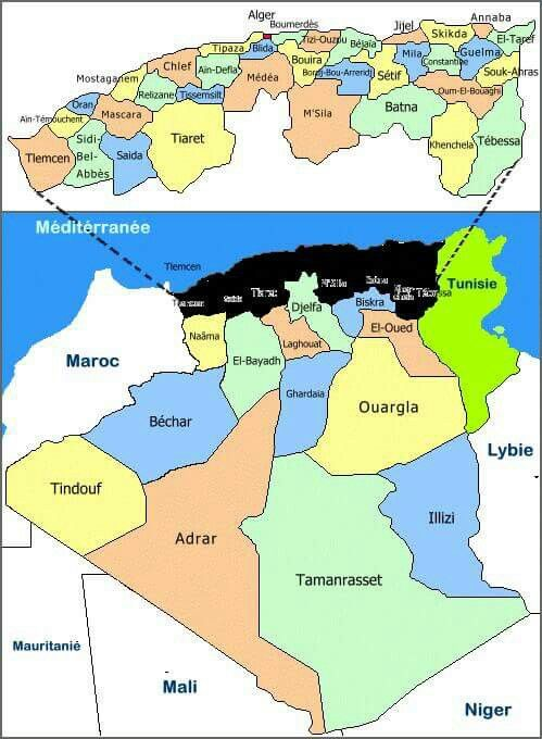 Epingle Par Cherki Kike Sur بلادي Carte Algerie Carte